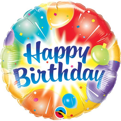 Birthday Balloons Ablaze (9 Inch)