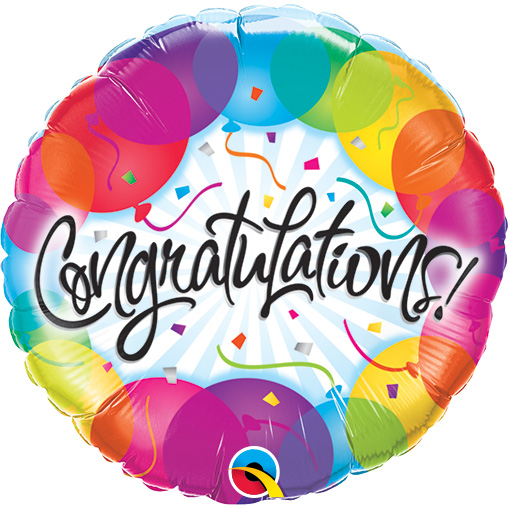 Colourful Congratulations (9 Inch)