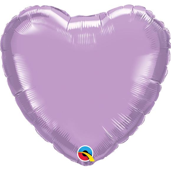 Heart Pearl Lavender (9 Inch)