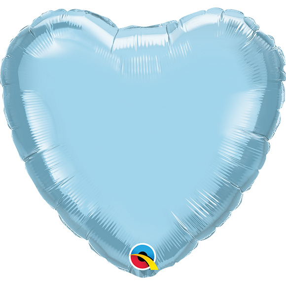 Heart Pearl Light Blue (9 Inch)