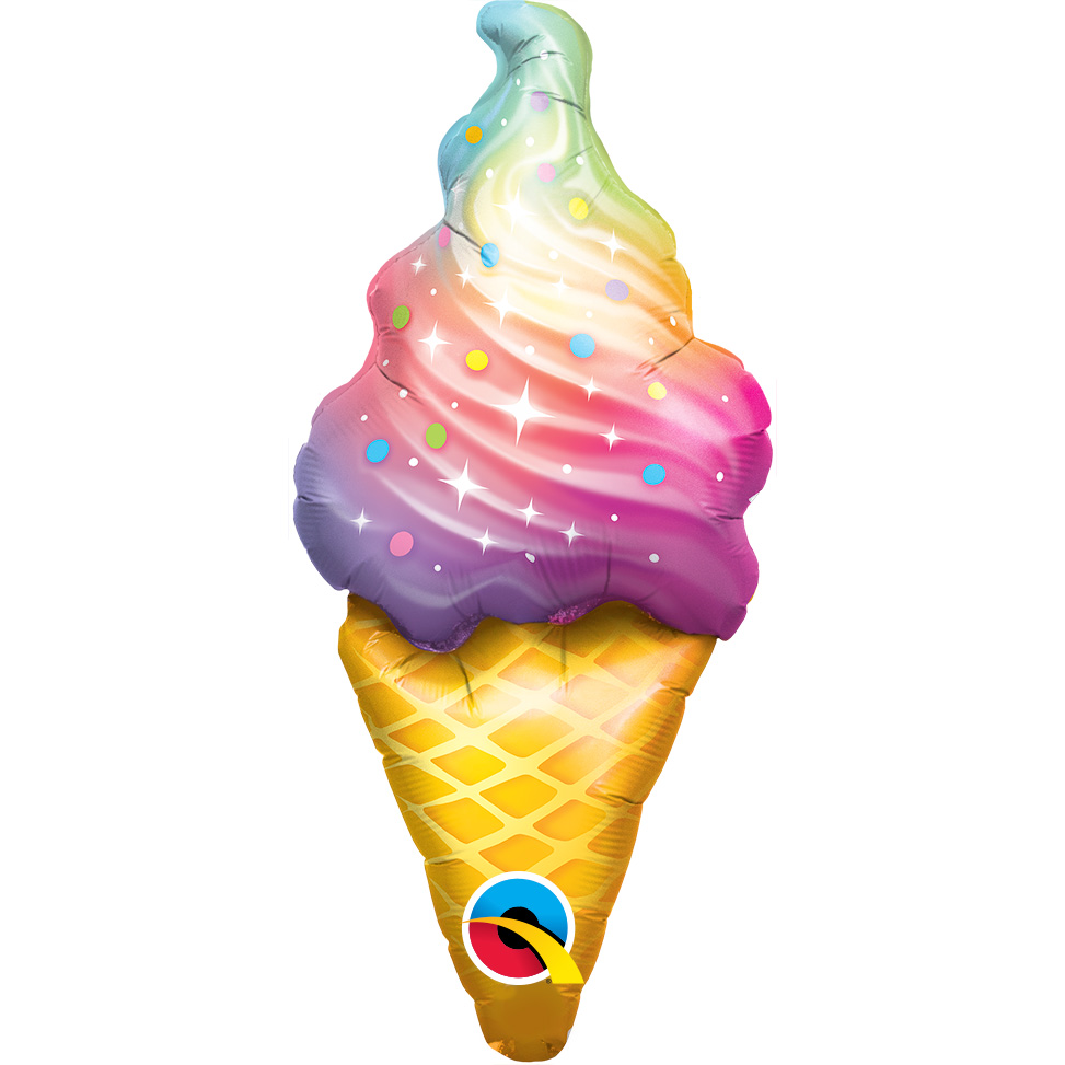 Rainbow Swirl Ice Cream