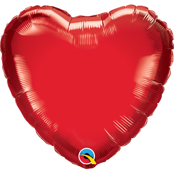 Ruby Red Heart (9 Inch)