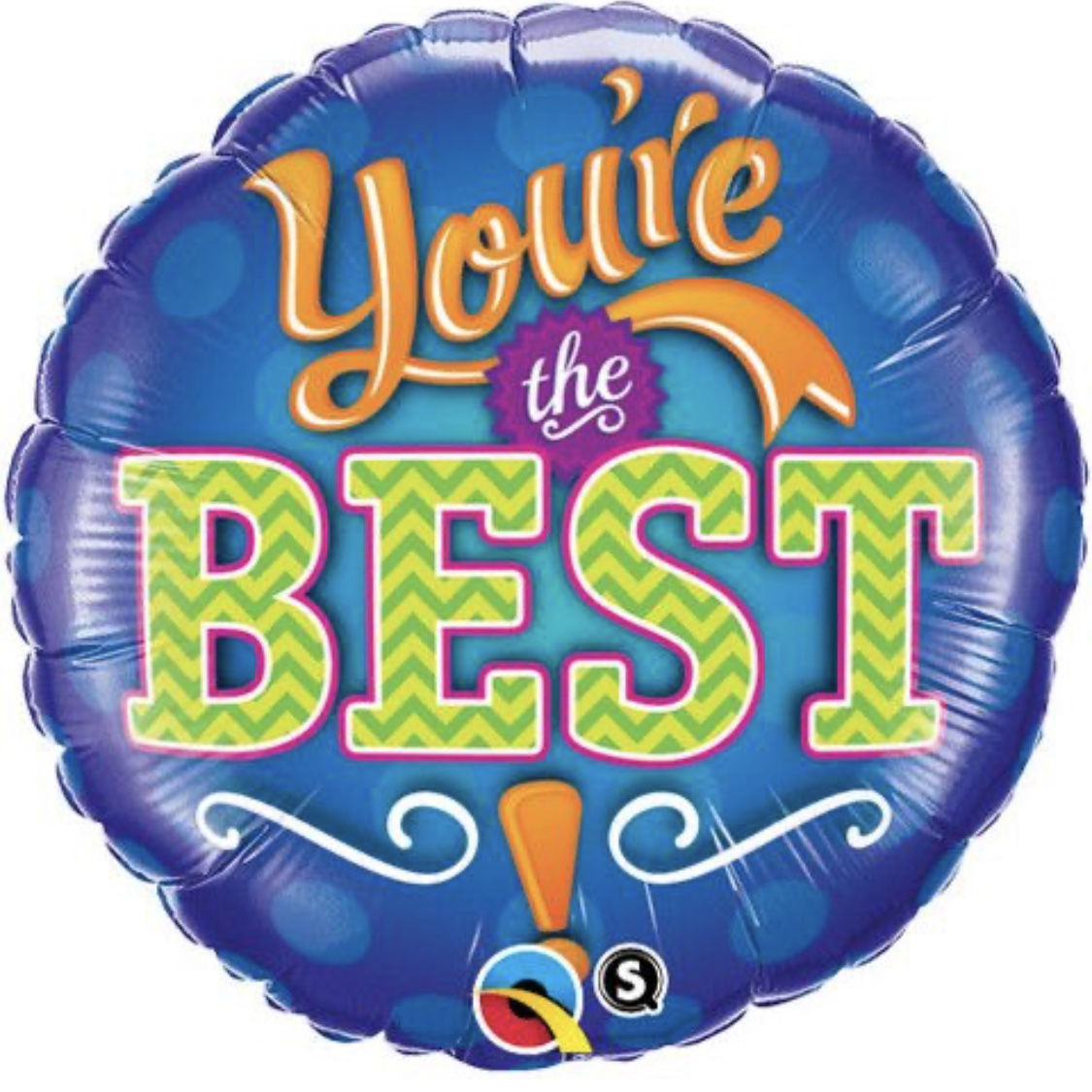 18″ You're the Best Blue foil